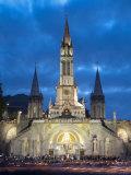 Basilika Du Rosaire  Lourdes  Hautes-Pyrenees  Midi-Pyrenees  France