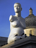 Controversial Sculpture Alison Lapper Pregnant by Mark Quinn Inf Trafalgar Square  London