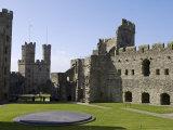 Gwynedd  Caernarvon  Inside the Walls of Caernarvon Castle  Wales