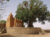 Huge Tree Shades One of Three Mosques in Village of Segoukoro on Banks of Niger River Near Segou