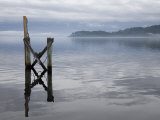 Jetty on the Old Penal Colony of Sarah Island in Macquarie Harbour  Tasmania