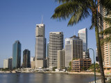 Queensland  Brisbane  the Highrise Apartment Blocks and Office Buildings of Brisbane's Riverfront