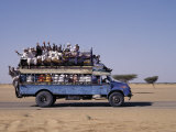 Crowded Bedford Bus Travels Along Main Road from Khartoum to Shendi  Old Market Town on Nile River
