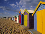 Bathing Huts  Port Phillip Bay  Melbourne  Victoria  Australia