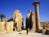 Massive Columns of the Temple of Karnak  Egypt