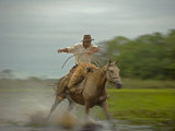 Traditional Pantanal Cowboys  Peao Pantaneiro  in Wetlands  Mato Grosso Do Sur Region  Brazil