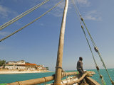 East Africa  Tanzania  Sailing an Arab Dhow in Zanzibar