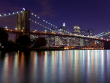 New York City  Manhattan  Brooklyn Bridge and Downtown Manhattan  USA