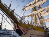 Massachusetts  Boston  Sail Boston Tall Ships Festival  Romanian Tall Ship  Mircea  Figurehead  USA