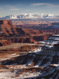 Utah  Moab  Canyonlands National Park  Buck Canyon Overlook  Winter  USA