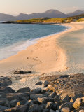 Sunset on Borve Beach  Isle of Harris  Hebrides  Scotland  UK