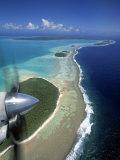 Lagoon and Beach  Aitutaki  Cook Islands