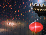 Beijing  Chinese New Year Spring Festival - Lantern Decorations on a Restaurant Front  China
