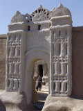 Traditional Nubian Architecture at a Gate in the Village of Qubbat Selim