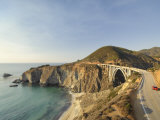 California  Big Sur Pacific Coastline  Bixby Bridge and Highway 1  USA