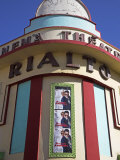 Brightly Coloured Art Deco Cinema-Theatre Rialto on Rue Mohammed Qorri