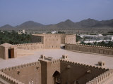 Interior Courtyard and a Watchtower Within Al Hazm Castle  Oman