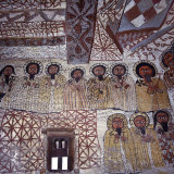 Fine Murals Decorate Interior of Rock-Hewn Church  Yohannes Maequddi  Gheralta Mountains  Ethiopia