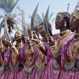 During a Dance  Girls from the Sultanate of Tadjoura  Dress Up in All their Finery and Display the