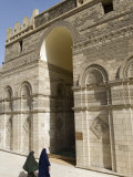 Two Muslim Women Enter the Al-Hakim Mosque in Islamic Cairo  Egypt