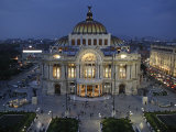 Mexico City  Palacio De Bellas Artes Is the Premier Opera House of Mexico City  Mexico