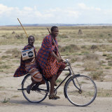 Despite their Traditional Dress  Two Young Maasai Give Hints That Lifestyle Is Changing in Tanzania