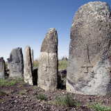 Beautifully Carved Stelae Represent the Headstones of a Burial Ground at Tiya  Ethiopian Highlands