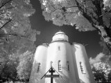 Infrared Image of Church of Assumption of Our Lady  Uspensky Convent  Staraya Ladoga  Russia