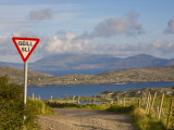 Traffic Sign  Iveragh Peninsula  Ring of Kerry  Co  Kerry  Ireland