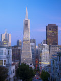 California  San Francisco  Downtown and Transamerica Building from Telegraph Hill Historic District