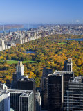 Uptown Manhattan and Central Park from the Viewing Deck of Rockerfeller Centre  New York City