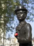 Statue of Charlie Chaplin in Leicester Square  in the Heart of London's West End
