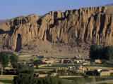Bamiyan Valley  Showing the Large Buddha  Circa 5th Century  Afghanistan