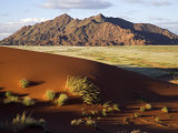 View of Naukluft Mountains from Elim Dune Near Sesriem in Namib-Naukluft National Park  Namibia