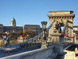 Chain Bridge and Royal Palace on Castle Hill  Budapest  Hungary