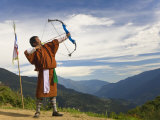 Archery Competition  Bumthang  Bhutan