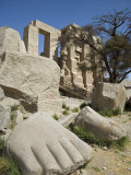 Giant Foot Is One of Few Remains of Colossal 17M Statue of Ramses Ii at Ramesseum  Luxor