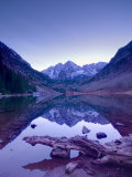 Colorado  Maroon Bells Mountain Reflected in Maroon Lake  USA