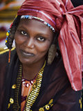 Gao  A Songhay Woman at Gao Market with an Elaborate Coiffure Typical of Her Tribe  Mali