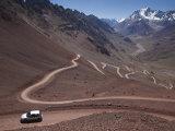 Mendoza Province  Las Cuevas  Road to Christo Redentor Statue by Cerro Aconcagua  Argentina