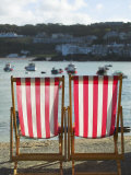 Deckchairs  the Symbol of British Tourism  on the Quayside of St Ives  Cornwall