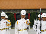 Taiwan Taipei Martyrs Shrine Changing of the Guards Ceremony