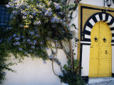 Tunis  Sidi Bou Said  A Decorative Doorway of a Private House  Tunisia