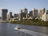 Queensland  Brisbane  View Along Brisbane River Toward City's Central Business District  Australia