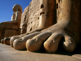 Luxor  Massive Feet on a Statue in the Temple of Karnak  Egypt