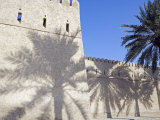 Traditional Mud Built Fort Overlooking Bay to Front of Small Town of Khasab  Oman