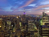 New York City  Manhattan  View Towards Downtown; Empire State Building from Rockerfeller Centre  US