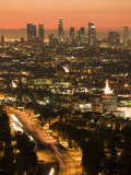 California  Los Angeles  Downtown and Hollywood Freeway 101 from Hollywood Bowl Overlook  USA