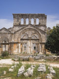 Ruins of the Basilica of St Simeon Stylites the Elder in the Hills Near Aleppo
