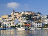 Eivissa or Ibiza Town and Harbour  Ibiza  Balearic Islands  Spain